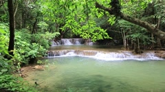 The Huai Mae Kamin waterfall,Thailand Stock Footage