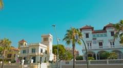 Establishing shot typical Spanish house, Salou 4k Spain Stock Footage