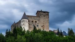 castle Naudersberg in Austria, Tirol - stock footage