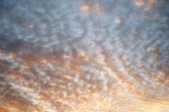 Cloud on sky at evening civil twilight Stock Photos