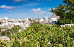Alberobello, Apulia. Famous Trulli homes Stock Photos