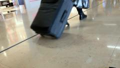 Traffic at Paris Orly airport terminal Stock Footage