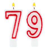 Birthday candles number seventy nine Stock Photos
