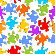 Seamless puzzle background Stock Illustration