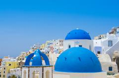 Beautiful travel destination, Santorini, Oia, Greece Stock Photos