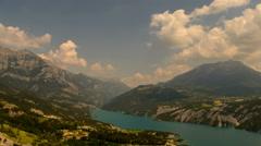 Ubaye lake Gorges du Verdon Alpes du Haute Provence time lapse  - stock footage