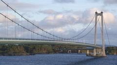 Suspension bridge Norway Stock Footage