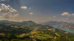 Ubaye valley in Provence alps rolling landscape summer time lapse 4K Stock Footage