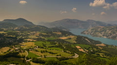 Shadows moving over Rolling landscape in Haute Provence Alps Gorges du Verdon - stock footage