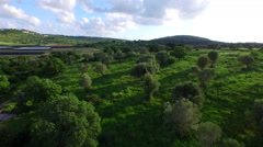 4K Aerial of Jezreel Valley's agricultural land Stock Footage