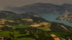Ubaye valley Alpes de Haute Provence rural landscape summer  4K - stock footage