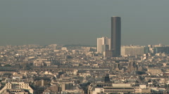 Paris Cityscape feat. Tour Montparnasse 1 - stock footage