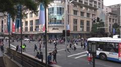 Sydney busy corner 4k Stock Footage