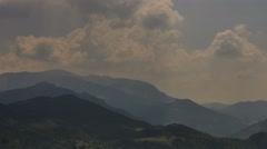 Mountain ridges in Alpes de Haute Provence near village of Castellane time lapse - stock footage