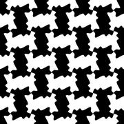 Seamless background with elementary white and black patterns Stock Illustration