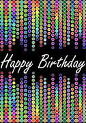 Happy birthday billboard with colorful lights Stock Illustration