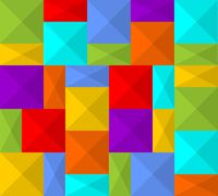 Modern rainbow background composed from squares Stock Illustration