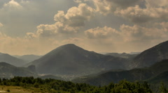Hills and forest landscape Cote d Azur Provence sunbeams time lapse - stock footage