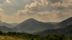 Provence Alps south of Gorges du Verdon mountain landscape with sunbeams 4K - stock footage
