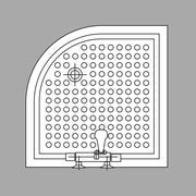 Bath Plan - stock illustration