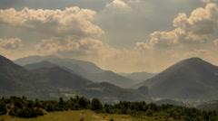 Alpes de Haute Provence summer rolling hills landscape 4K Stock Footage