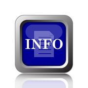 Info icon. Internet button on white background.. Stock Illustration