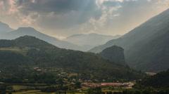 Alpes de Haute Provence valley landscape Castellane village - stock footage