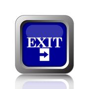 Exit icon. Internet button on white background.. - stock illustration