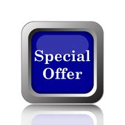 Special offer icon. Internet button on white background.. - stock illustration