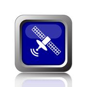 Antenna icon. Internet button on white background.. Stock Illustration