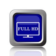 Stock Illustration of Full HD icon. Internet button on white background..