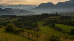 provence village Percy Monastery-4K - stock footage