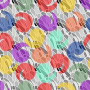 Abstract background with pastel splashes - stock illustration