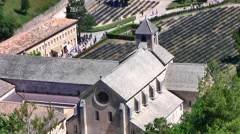 Famous Senanque Abbey, view from hilltop, Provence, France Stock Footage