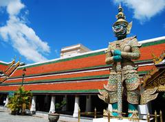 the giant stand on sentry bankok thailand - stock photo