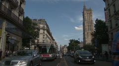 Tour Saint-Jacques and Rue de Rivoli 1 Stock Footage