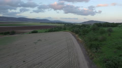 4K Aerial of Jezreel Valley's agricultural land - stock footage
