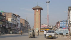 Clocktower in old town,Srinagar,Kashmir,India Stock Footage
