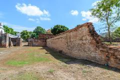 Great palace of king Narai, King of Ayutthaya kingdom. - stock photo