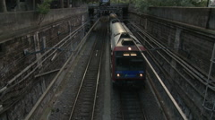 Paris RER C Train Approaching Stock Footage