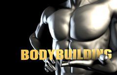 Bodybuilding Stock Illustration