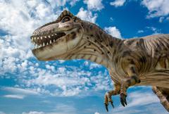 Realistic model of a Tyrannosaurus - stock photo