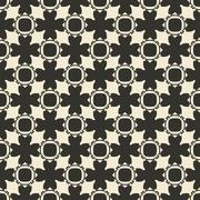 Geometric ornament seamless pattern.  Textile design template seamless - stock illustration