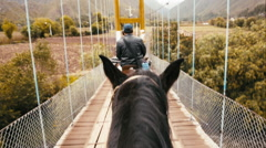 Riding Horseback POV in Peru's Sacred Valley Stock Footage