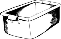 Outline of Empty Crate - stock illustration