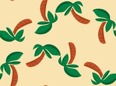 Alternating Palm Tree Shapes Wallpaper - stock illustration