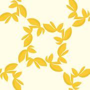 Stock Illustration of Golden Seamless Leaves Pattern