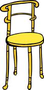 Isolated Brass Chair - stock illustration