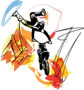 Extreme motocross racer by motorcycle Stock Illustration