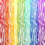 Stock Illustration of Abstract decorative rainbow background with curve patterns